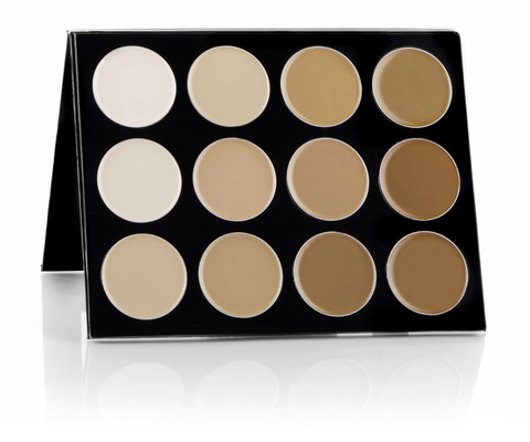Mehron Палитра тональных основ Celebre Pro HD Cream Foundation 12 Color Contour/Highlight Palette, 12 цветов по 6 г