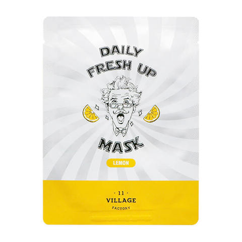 VILLAGE 11 FACTORY Тканевая маска для лица с экстрактом лимона Daily Fresh up Mask Lemon