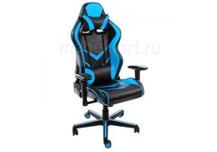 Компьютерное кресло Райсер (Racer) черное / голубое