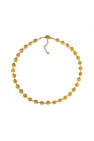 Комплект Amato желтого цвета (бусы и браслет)