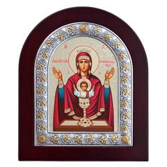 Неупиваемая чаша. Икона Божьей Матери в серебряной раме.