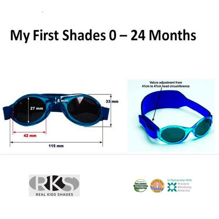 ef875c2026a2 Солнцезащитные очки для малышей Real Kids Shades 0+ (на ремешке) темно-синие