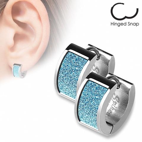 Оригинальные женские красивые стильные серьги кольцами с алмазным блеском из нержавеющей медицинской хирургической ювелирной стали 316L SPIKES SEZ-09
