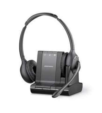 Plantronics Savi (Over-the-head) W720,  — беспроводная (DECT) система для компьютера, мобильного и стационарного телефона