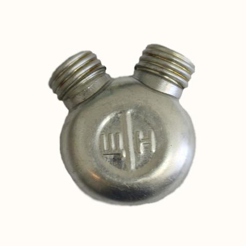 Масленка двухсекционная армейская (алюминий)