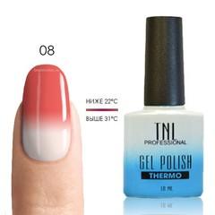 Термо гель-лак TNL 08 - розовый/белый, 10 мл