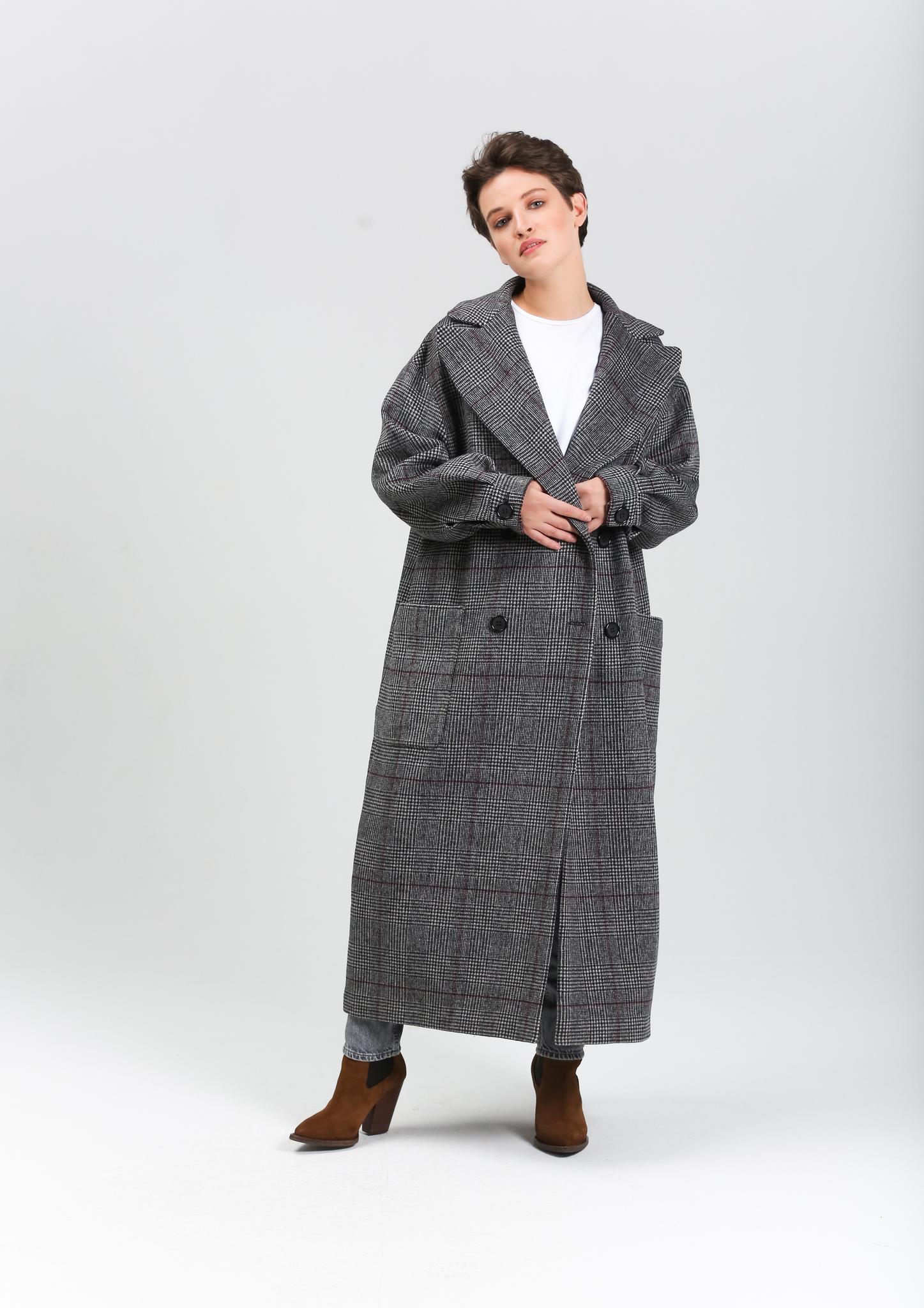 Пальто клетчатое (FW0327)