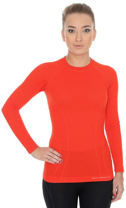 Женская терморубашка Brubeck Active Wool (LS12810) оранжевая