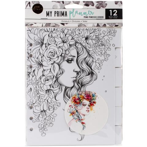 Разделительные страницы с набросками для раскрашивания My Prima Planner Coloring Tabbed Dividers