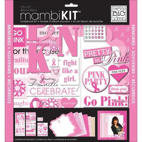 Набор бумаги с украшениями Me & My Big Ideas Page Kit- 30х30см - Pretty In Pink