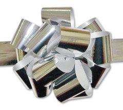 Бант-шар металлиз. (серебро) 50х160 большой