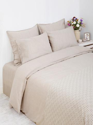 Постельное белье 2 спальное евро Bovi Linen натуральное