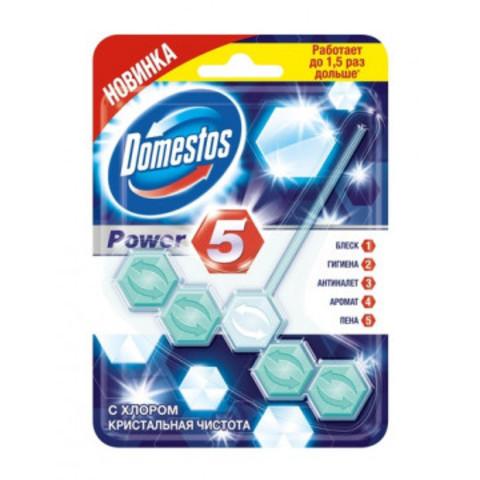Блок для унитаза Domestos Power 5 Кристальная чистота 55гр