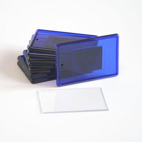 Акриловый магнит 52х77 мм синий