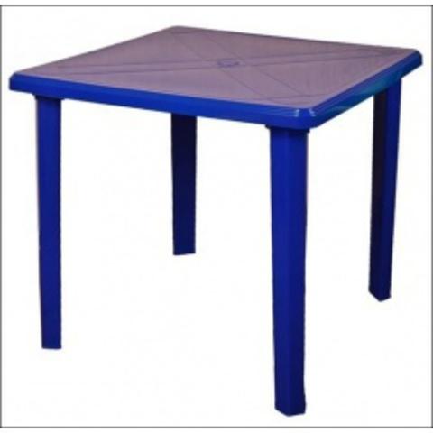 Стол квадратный 80х80 синий (ИжПласт)