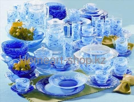 L-6481 столовый набор 71 предметов пленитюд синий ;