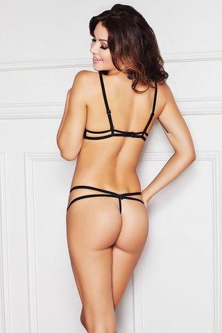Комплект белья эротический черный открытый с камешками стрингами сексуальный польский Anais красивый новинка вид сзади