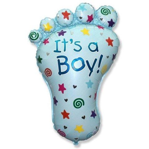 Фигурный шарик из фольги Ступня-Мальчика