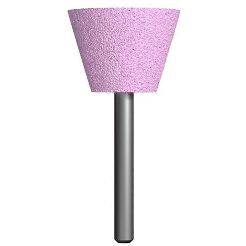 Шарошка абразивная ПРАКТИКА оксид алюминия, трапециевидная 35х25 мм, хвост 6 мм, блистер