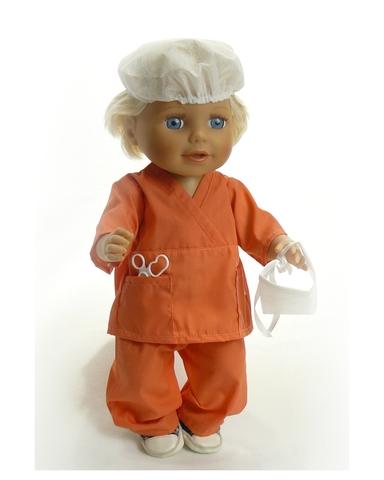 Хирург - На кукле. Одежда для кукол, пупсов и мягких игрушек.