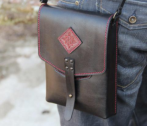BAG399-1 Стильная мужская сумка ручной работы из натуральной кожи