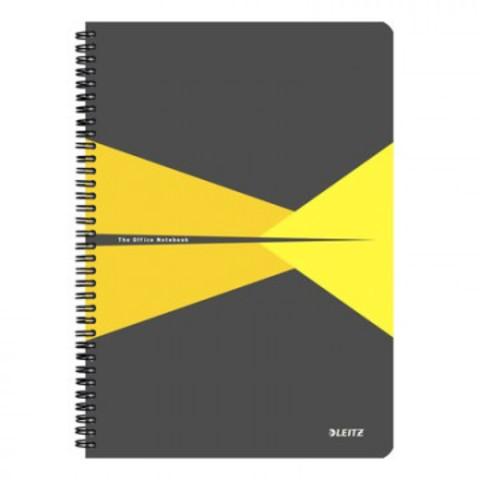 Бизнес-тетрадь Office, А4,обложка полипропилен,клетка, желтый 44950015