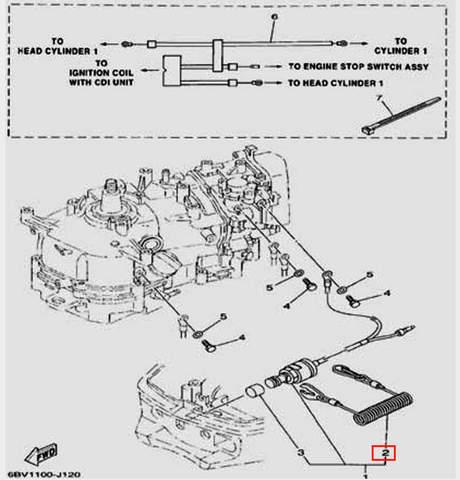 Трос аварийной остановки для лодочного мотора F5 Sea-PRO(12-2)