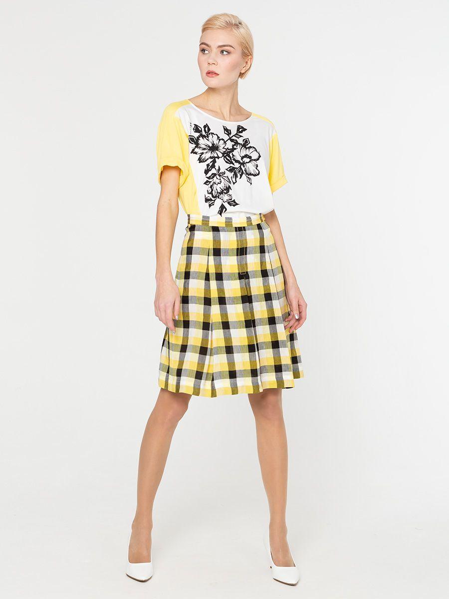 Юбка Б026-599 - Женственная, стильная юбка, украшенная актуальным рисунком в клетку. Данная модель превосходно сочетается со многими предметами гардероба, позволяя создавать всегда разные образы.