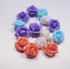 Цветок розы 4 см (фоамиран).