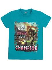 BK003-14 футболка детская, бирюзовая
