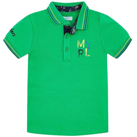 Поло Mayoral зеленое с коротким рукавом