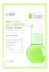 Тканевая маска для лица с экстрактом коры черной ивы Skin Solution A.C Control Mask Sheet 25мл