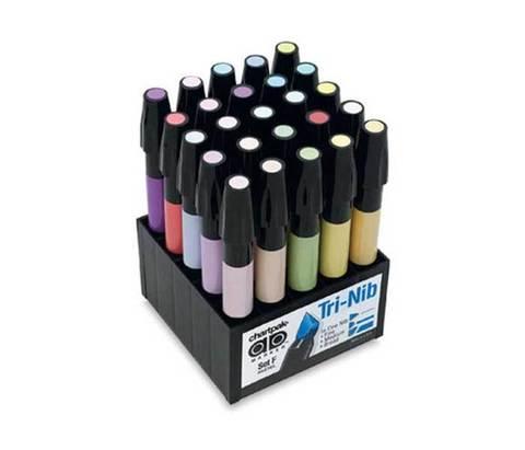 Набор маркеров CHARTPAK PASTELS, пастельные тона, 25 цветов