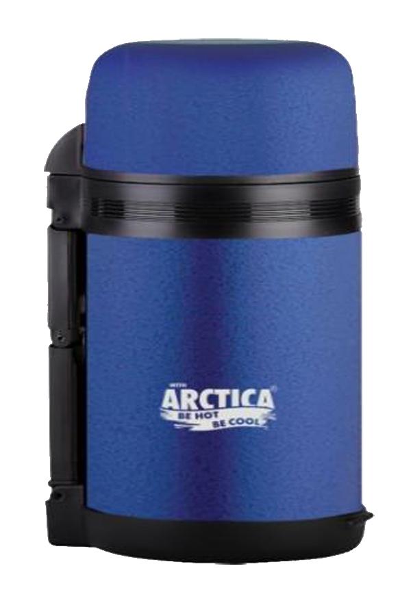 Термос универсальный (для еды и напитков) Арктика (0,8 л.) с широким горлом, синий матовый