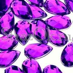 Стразы пришивные купить оптом Drope Purple Velvet фиолетовые