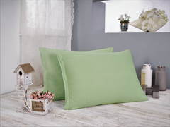 Наволочка Трикотаж (зеленая) 50х70 (2шт) Sofi De MarkO