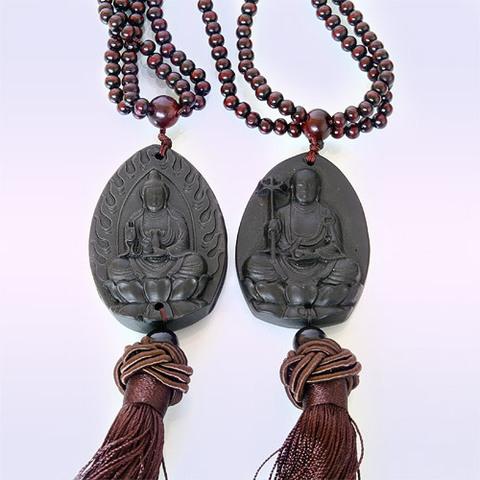 Подвеска-оберег с бусинами Благославляющий Будда