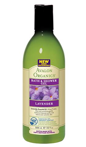Гель для ванны и душа с маслом лаванды, Avalon Organics