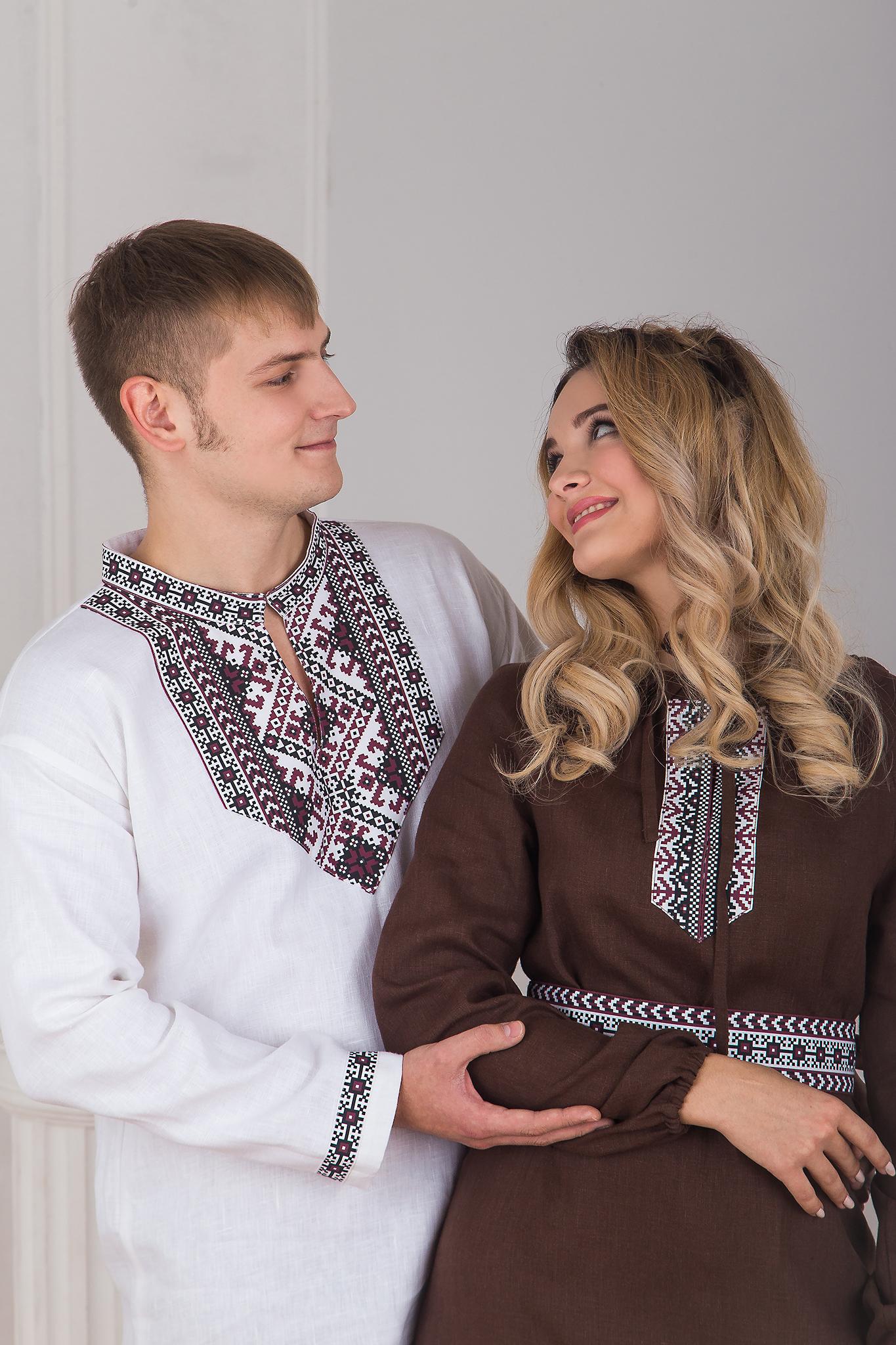 Платье льняное Новгородское пара