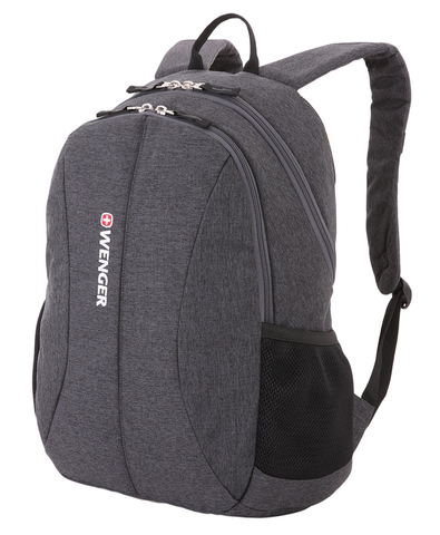 Рюкзак WENGER 13'', cерый, ткань Grey Heather/ полиэстер 600D PU , 33х16х45 см, 23 л