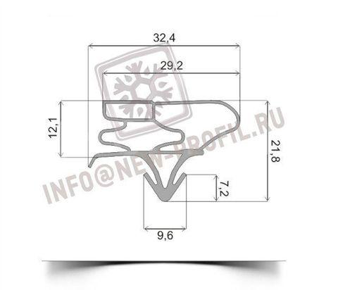 Уплотнитель 120*57 см для холодильника Beko DSK 33000 (холодильная камера)  Профиль 003