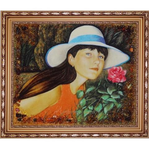 Картина из натурального янтаря (янтарная крошка) на заказ