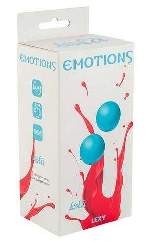 Тяжелые вагинальные шарики без сцепки Emotions Lexy Medium turquoise (2,8 см; 106 гр)