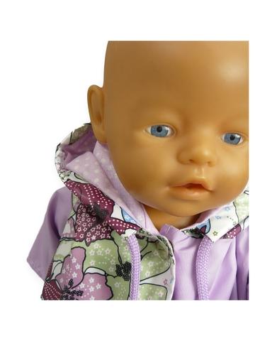 Плащ комбинированный - На кукле. Одежда для кукол, пупсов и мягких игрушек.
