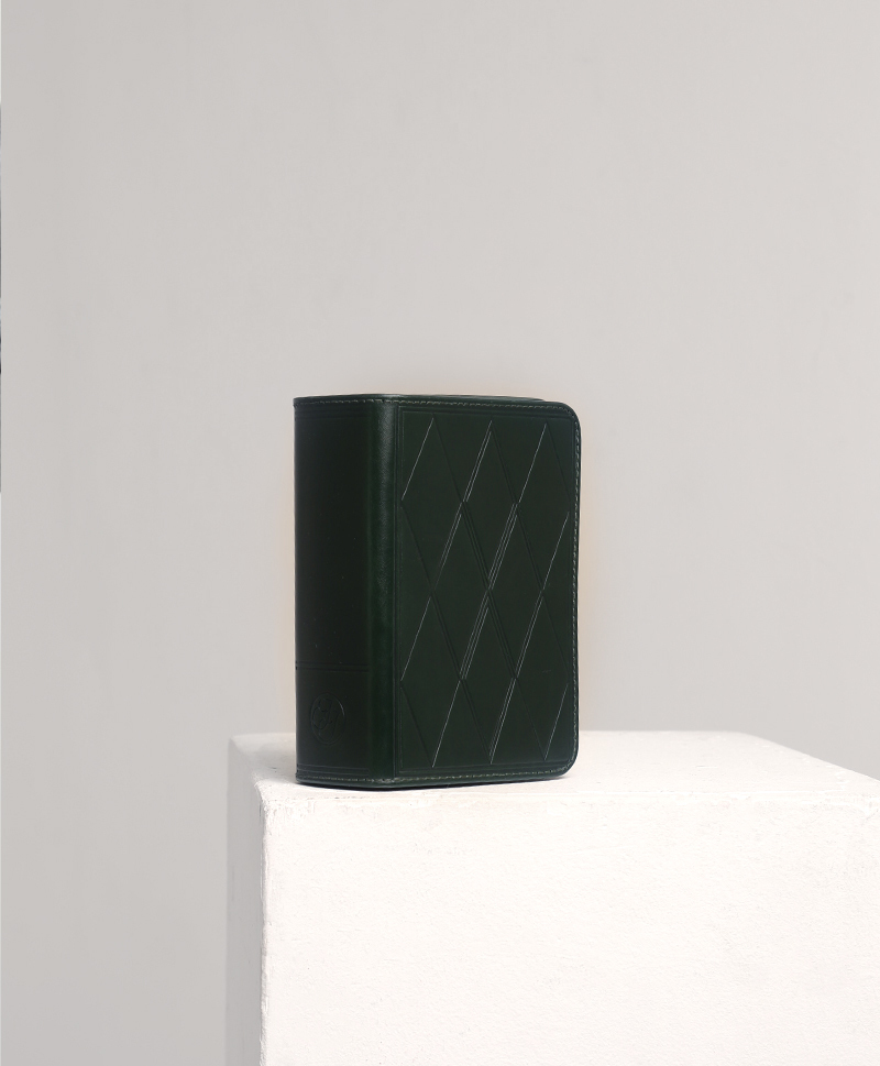 Сумка прямоугольная зеленая мини
