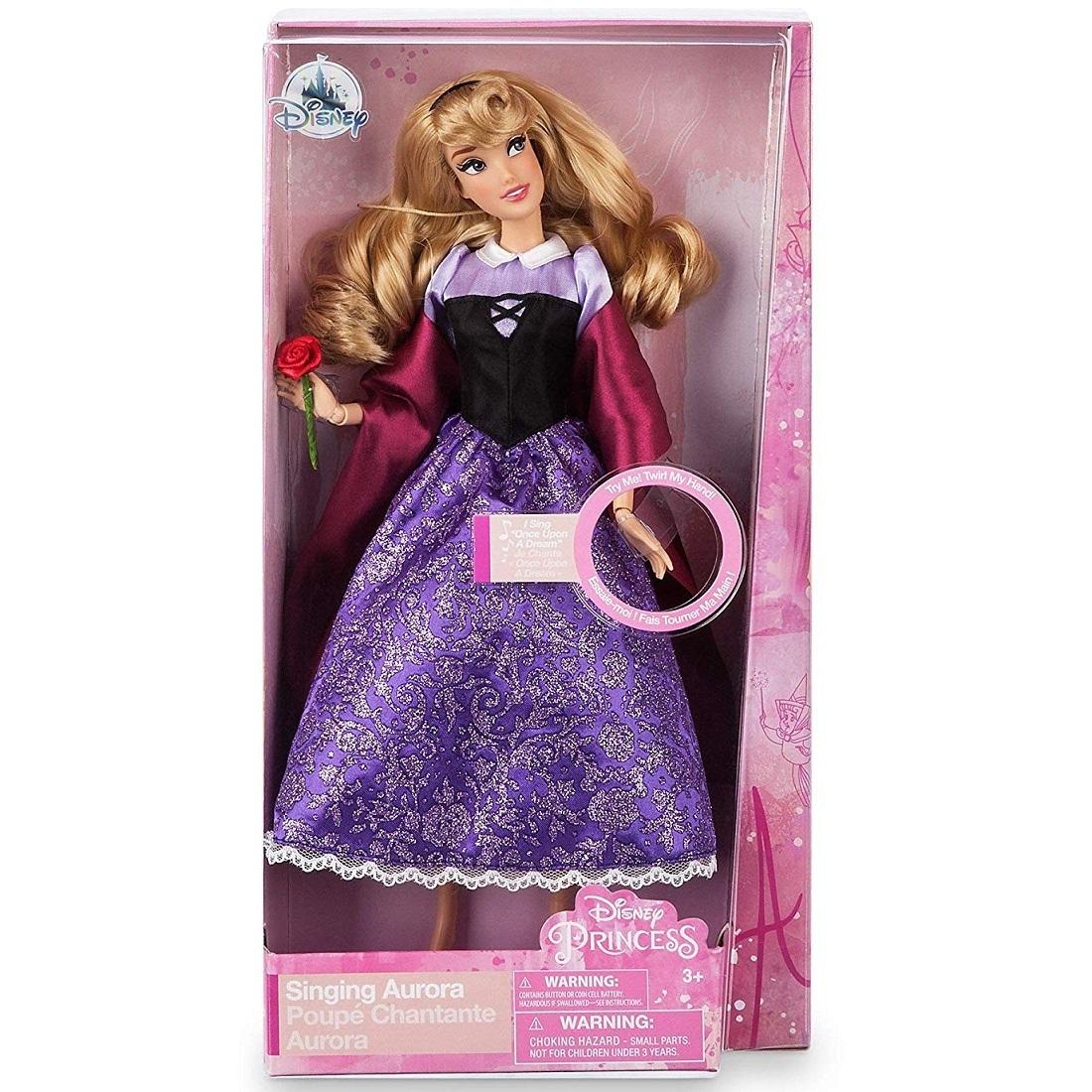 Музыкальная кукла «Аврора» Спящая Красавица с розой Disney Classic