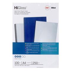 Обложки для переплета картонные GBC белые глянец, А4, 250г/м2, 100шт/уп.