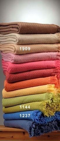 Плед вязаный хлопковый  Design  темно-розовый  Buddemeyer Бразилия