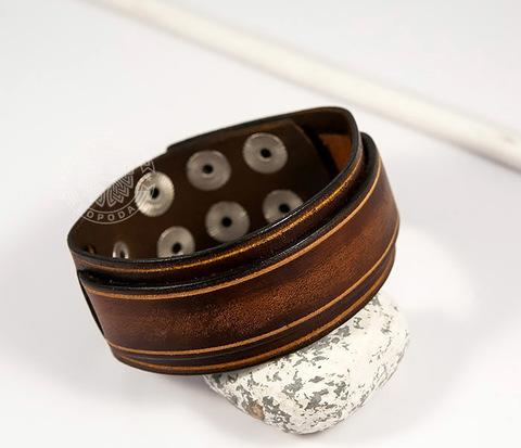 BL446-2 Стильный мужской браслет ручной работы из натуральной кожи