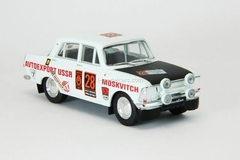 Moskvich-412 #28 World Cup Rally London-Mexico 1:43 DeAgostini Auto Legends USSR #212